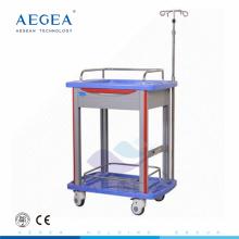 AG-LPT006B medizinischer Lieferant Krankenhaus ABS langlebiger Laborwagen zum Verkauf