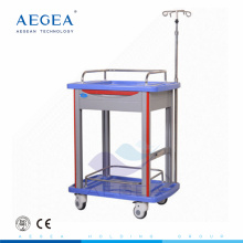 AG-LPT006B manufacturer ABS material medical crash resuscitation hospital cart trolley
