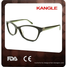 Popular nice shape Lady acetate eyeglasses, new shape acetate optical frames for 2015