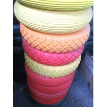 Colorful Wheelbarrow PU Foam Rubber Wheel 400-8