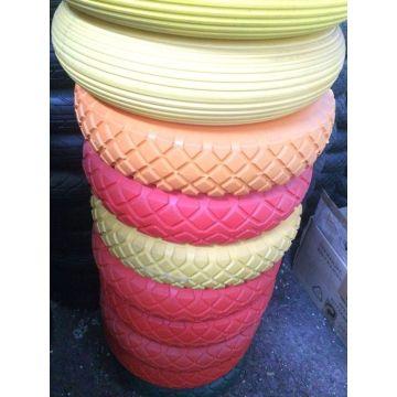 Colorful Wheelbarrow PU Foam Rubber Wheel 400-8
