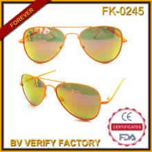 Fk-0245 Retro Anti-Glare Cool Kids Metal Pilot Style Sun Eyeglasses Wholesale in China