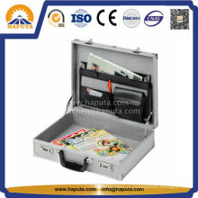 Caso de documento de alumínio de negócios polido prata (HL-2501)