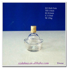 115ml Ingot Shaped Glass Wine Liquor Bottle