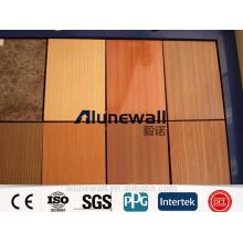 paneles de pared decorativos de la cocina del panel compuesto de aluminio del grano a prueba de fuego / anchura máxima de 2 metros