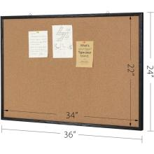 Cork Bulletin Pin board with Black Wood Frame