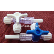 good quality higher quality plastic medical 3 way Y stopcock for IV cannula