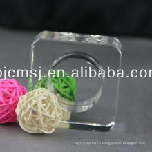 Выдвиженческое высокое качество круглый стеклянный кристалл пепельницы
