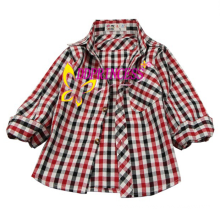 china wholesales high quality boys' fashion plaid shirt