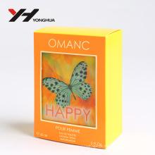 Logotipo UV brilhante feito sob encomenda do projeto da impressão e perfume do teste padrão ou caixa de embalagem de papel cosmética