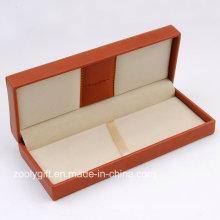 Caixa de couro da pena do plutônio que embala a caixa / as caixas de vidros do armazenamento da exposição de couro / caixas da jóia com logotipo gravado