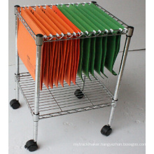 Adjustable Office File Metal Storage Cart/File Metal Trolley (CJ-A1207)