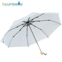 Simples Estilo Design Personalizado Manual Aberto Fácil de Transportar Pequeno 3 Dobrável Guarda-chuva