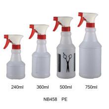 Garrafa plástica do pulverizador do disparador do PVC para limpar (NB455)