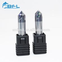 Outil de fraisage de chanfrein de commande numérique par ordinateur de carbure de tungstène de haute précision de BFL pour le métal