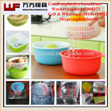 OEM Custom Double Kitchen vegetable basket mould/Custom design Double Kitchen plastic injection vegetable basket mold