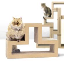 Gato sofá descanso cama placa papel brinquedo sala de papelão ondulado cat scratcher ct-4050