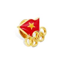 Combinación de la insignia del Pin de solapa de dos banderas (GZHY-LP-011)