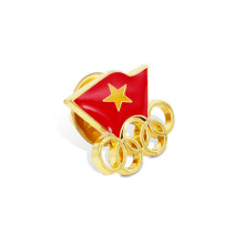 Combination of Two Flags Lapel Pin Badge (GZHY-LP-011)