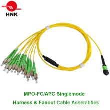 12 Cores Conjunto de cables de ventilación / ventilación FC / APC MPO