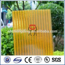 дешевые кристалл ПК солнце лист/ПК полые панели/ПК солнечных лучей листа фабрики