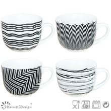 Black & White New Bone China Soup Mug