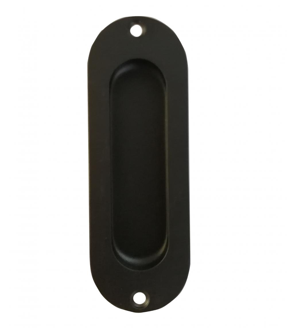Oval Flush Pull Black