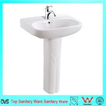 Bom preço sanitário lavagem de mão bacia pedestal