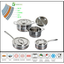 Waterless Cookware Set 5 Ply Composited Body Kitchenware