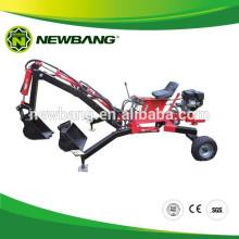 Mini retroescavadeira rebocável para ATV