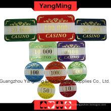 Высококачественный набор чипов для покерных коров (760PCS) Ym-Lctj004