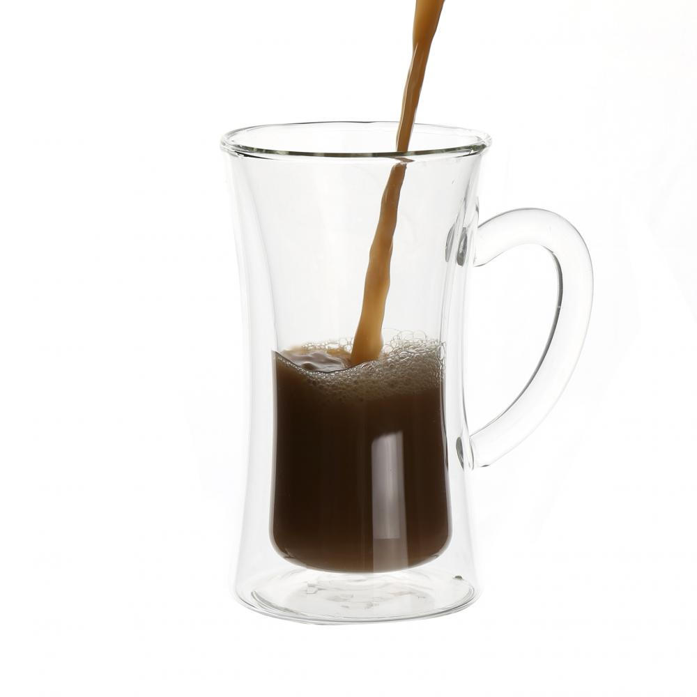 Hot sale double wall glass Coffee Glass Cup