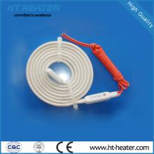 Calentador de descongelación de tubería de drenaje de material de caucho de silicona