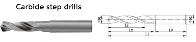 coolant carbide step drills