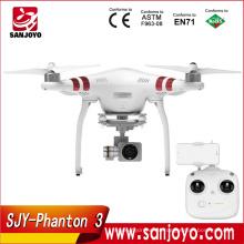2016 nuevo y caliente sel original DJI Phantom 3 revisión estándar FPV Drone con 12MP cámara dispara 2.4K Video RC Quadcopter RTF para la venta