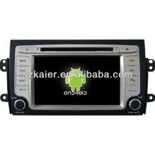 Reproductor de DVD del coche Android System para Suzuki SX4 con GPS, Bluetooth, 3G, iPod, juegos, zona dual, control del volante