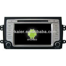 Reprodutor de DVD do carro do sistema de Android para Suzuki SX4 com GPS, Bluetooth, 3G, iPod, jogos, zona dupla, controle de volante