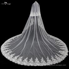 TA037 Applique con velas nupciales suaves de la boda de Tulle