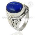 Estilo de moda vintage Lapis joyas anillo de la joyería 925 joyas anillo de plata esterlina exportador