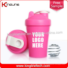 400ml Blender Shaker Wasser Flasche benutzerdefinierte Protein Shaker Flasche Sport Flasche Shaker Cup Fitnessstudio Shaker Fitness Flasche Bap freie Wasserflasche mit Mixer (KL-7011)
