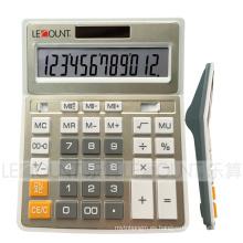 Calculadora de la oficina del color del metal del oro de los dígitos de 12 dígitos (CA1092B-G)