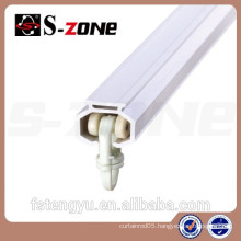 Ceiling Mounted Plastic Curtain Rail Wall Mounted Curtain Track PVC Sliding For Curtain Holding