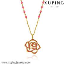 43307 bijoux fantaisie pivoine forme de fleur artificielle collier de mode unique