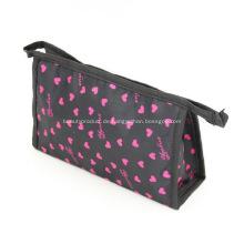 Benutzerdefinierte Polyester vor Ort Kosmetik Taschen mit Reißverschluss