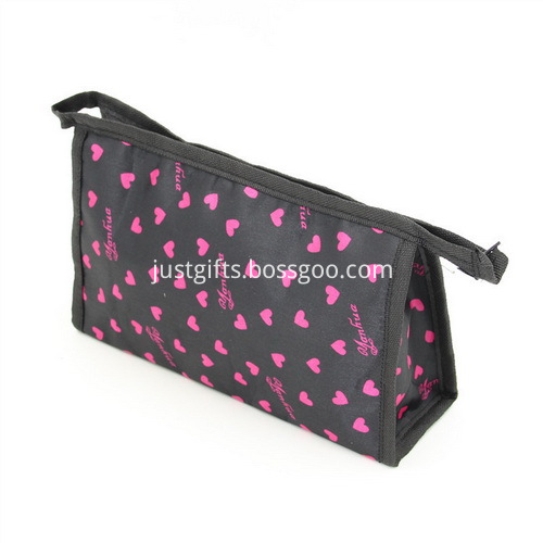 Custom Polyester Spot Cosmetics Bags W Zipper Closure