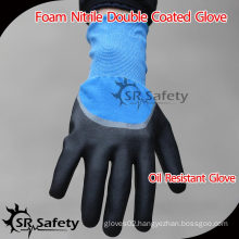 SRSAFETY 15G Knitted Double Coated Nitrile Gloves, best selling in China
