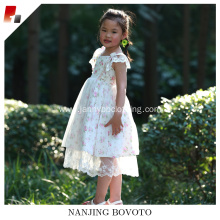 High Quality Baby floral Puffy Long Dress