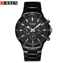 Moda de aço inoxidável Sport Men Watches Waterproof