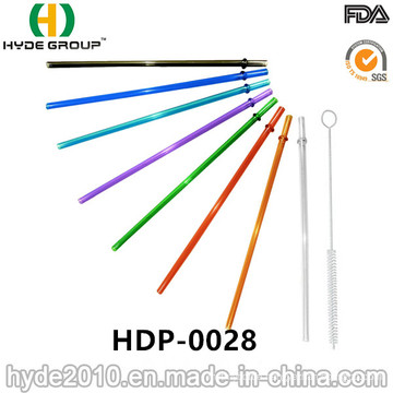 High Quality Straight Hard Plastic Drinking Straw (HDP-0028)