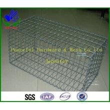 2m X 1m X 1m galvanizado soldado Gabion pedra cesta (HPZS6001)
